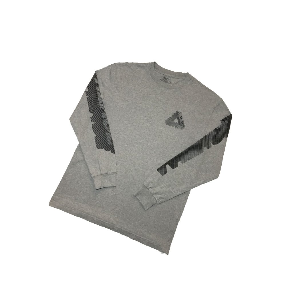 P3d_0006_Palace p3d ls tee grey small used front diag