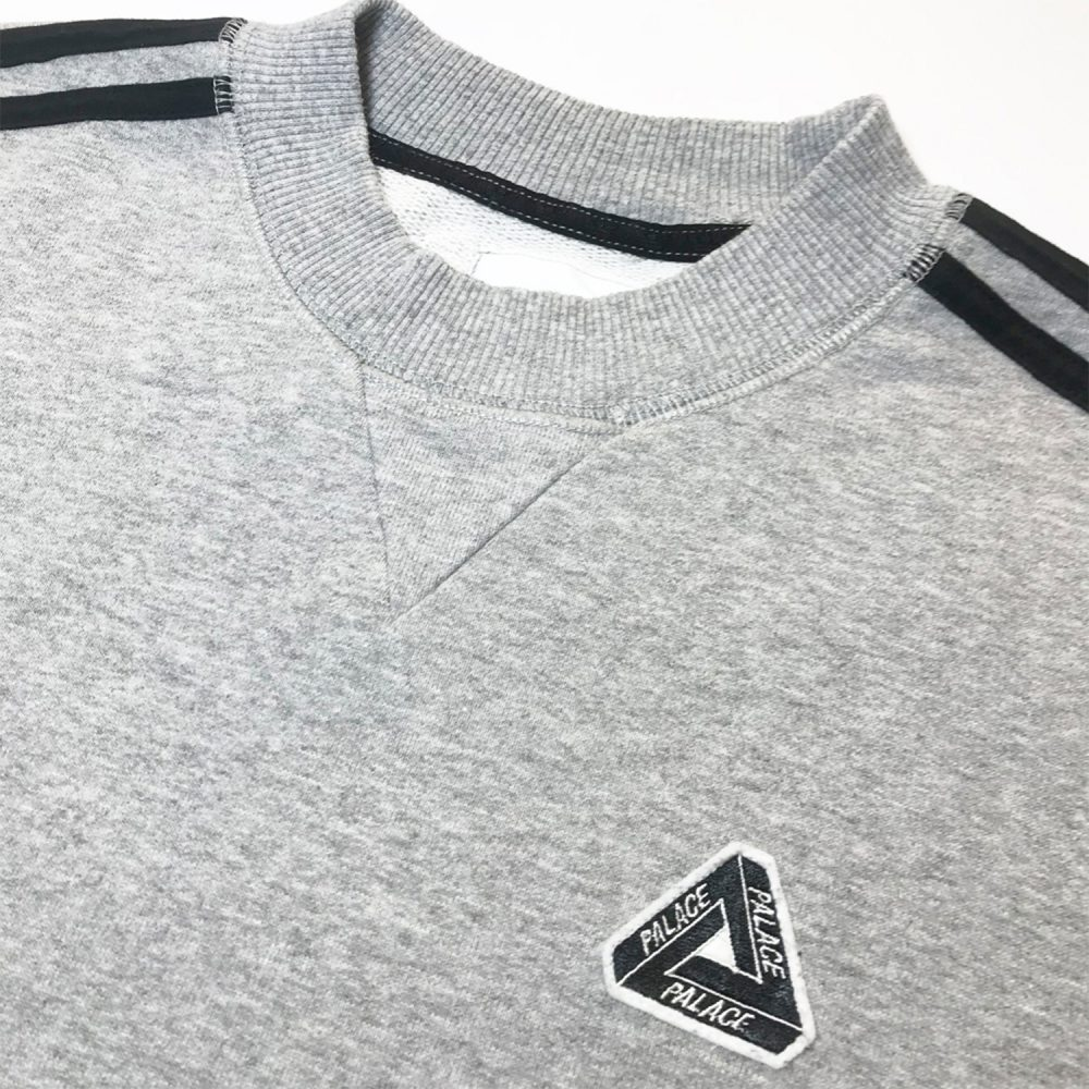 Palace Adidas Grey Jumper Small_0000_Palace x adidas grey jumper small logo