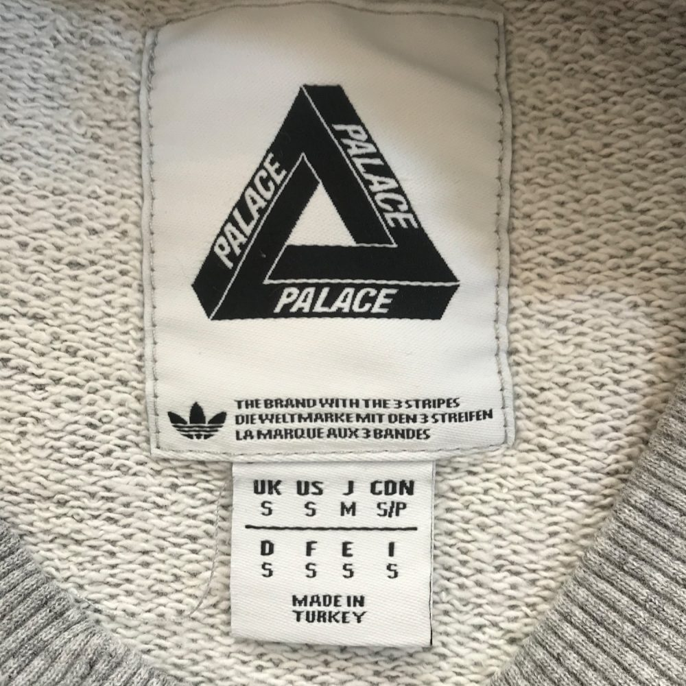 Palace Adidas Grey Jumper Small_0001_Palace x adidas small grey size