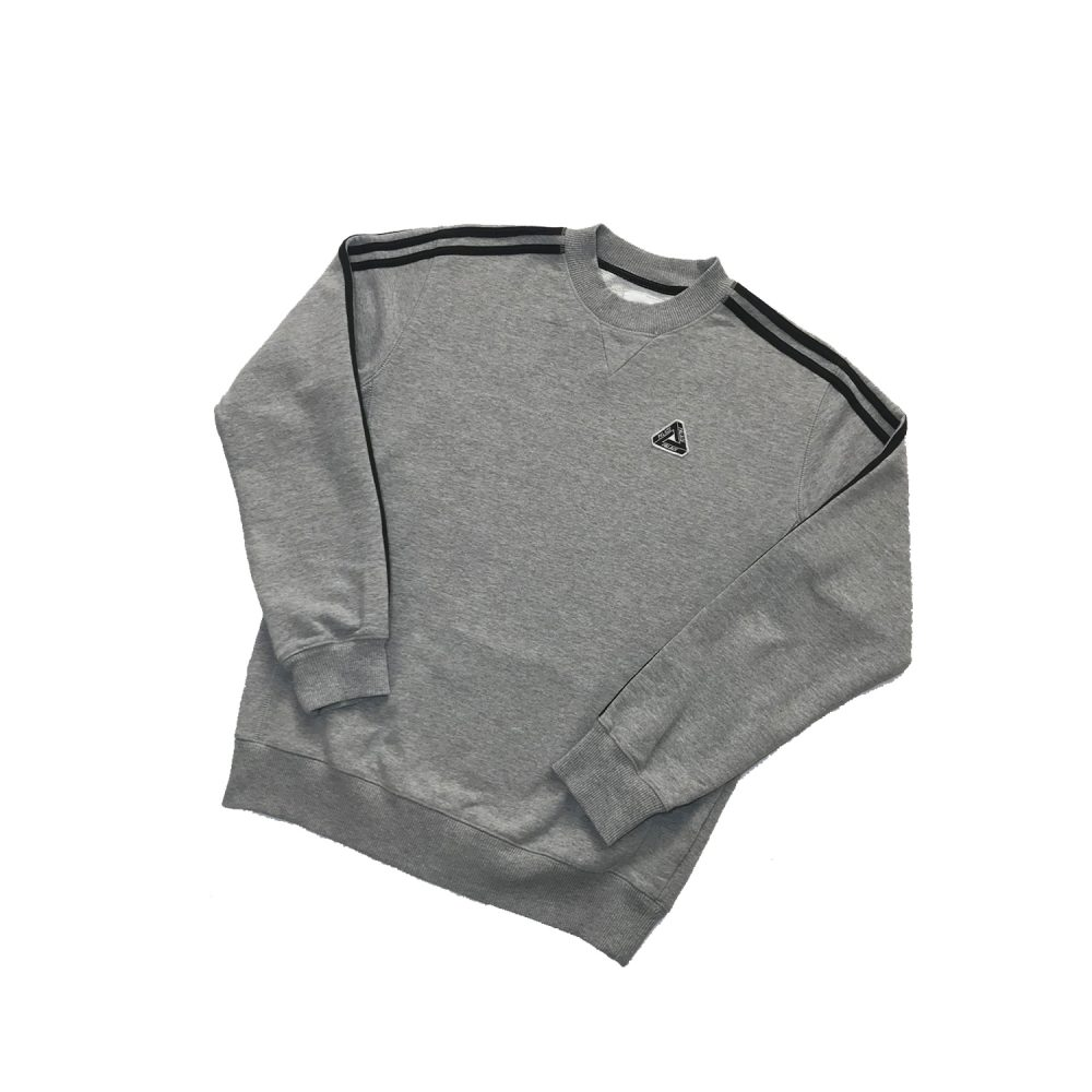 Palace Adidas Grey Jumper Small_0002_Palace x Adidas jumper grey small diags