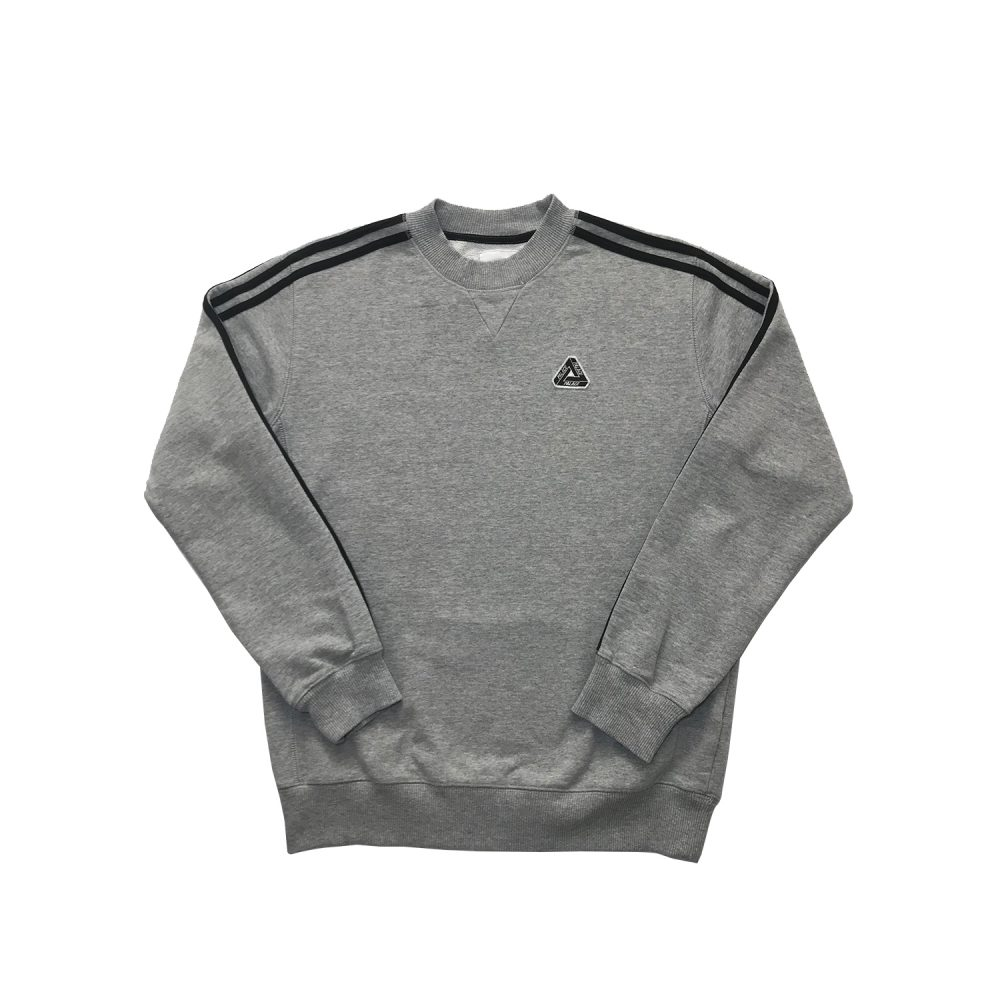 Palace Adidas Grey Jumper Small_0003_Palace adidas grey jumper small used straight