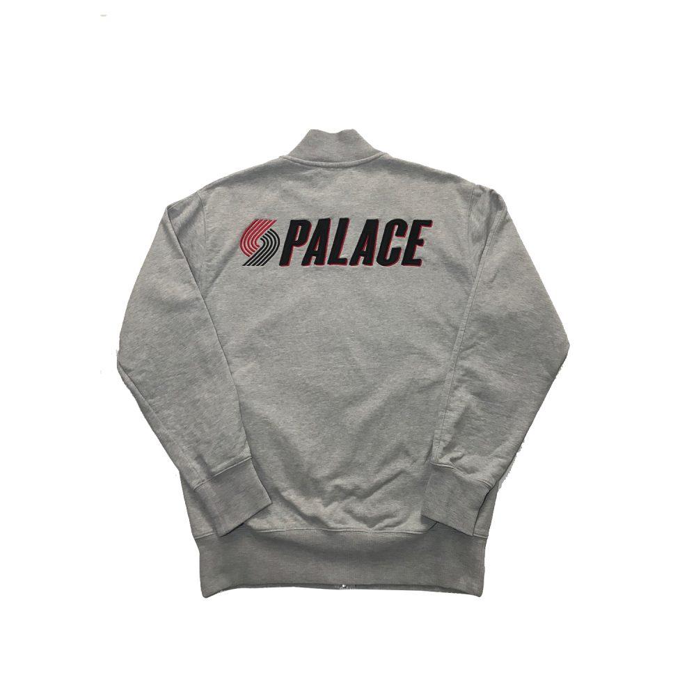 Palace Blazed Zip Bomber_0002_Palace blazed zip bomber grey medium used back straight