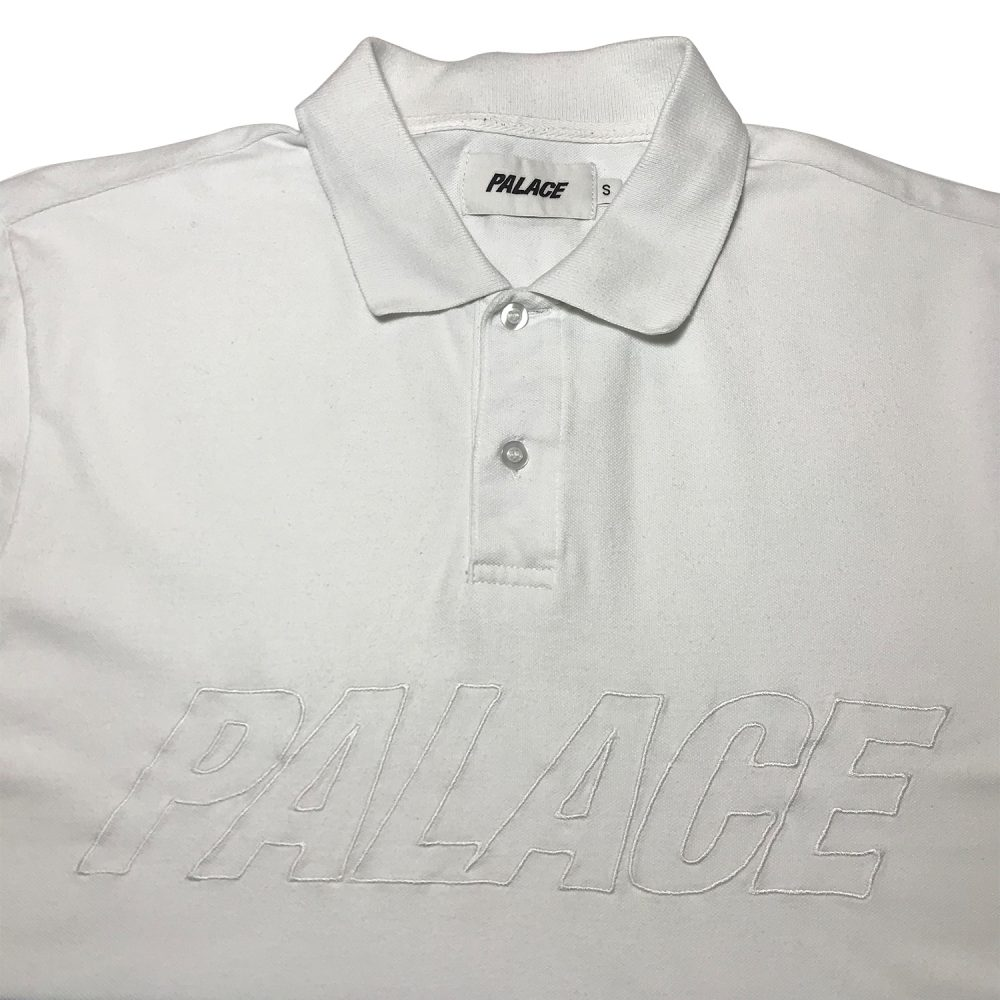 Palace Polo Tee _0003_Palace polo tee red white blue small used front half