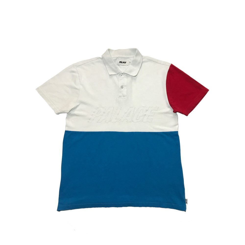 Palace Polo Tee _0005_Palace polo tee red white blue small used straight