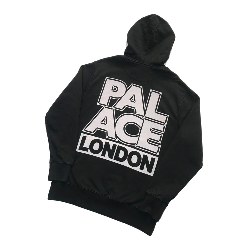 Palace london hood black large used back1