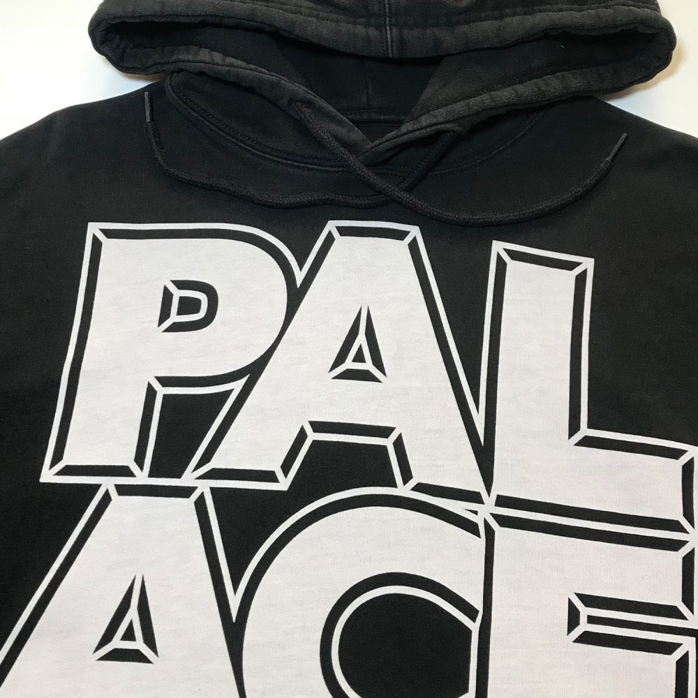 Palace london hood black large used back2