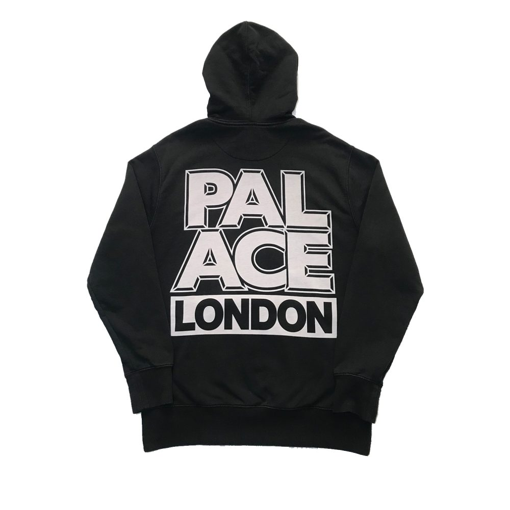 Palace london hood black large used back3