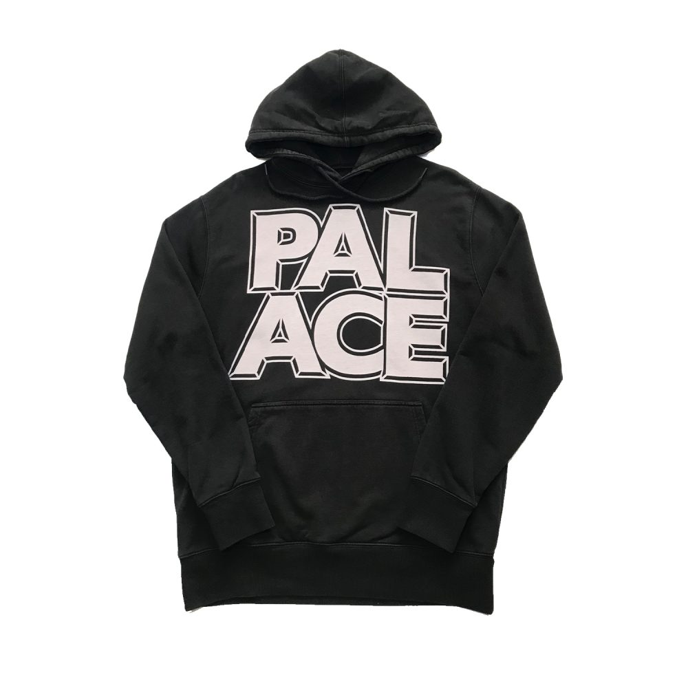 Palace london hood black large used back4