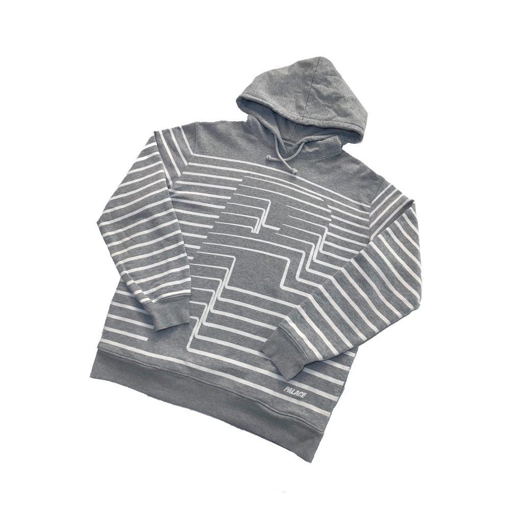 Striper_0003_Palace striper hood grey XL used diag copy