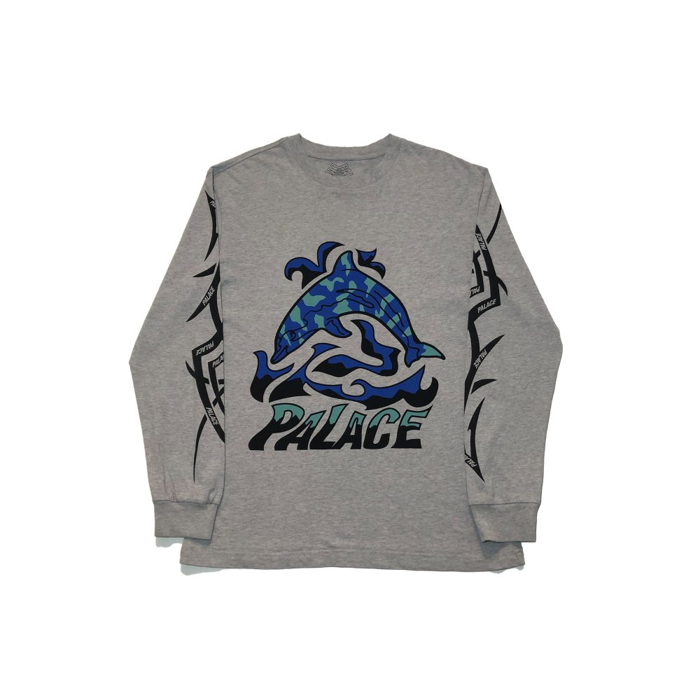 dolphin_0000_palace sketchy dolphin ls tee grey small used straight copy