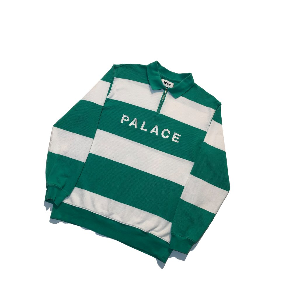 J Stripe_0000_palace j stripe crew green medium used straight copy