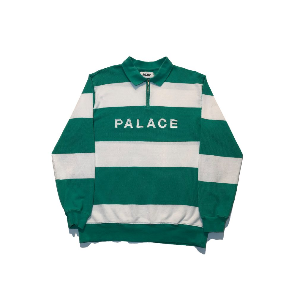 J Stripe_0001_palace j stripe crew green medium used straight