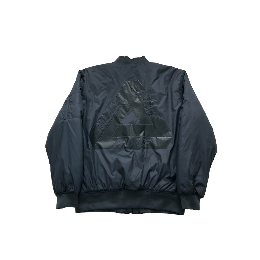 Jacket_0003_palace thinsulate bomber grey large used back straight