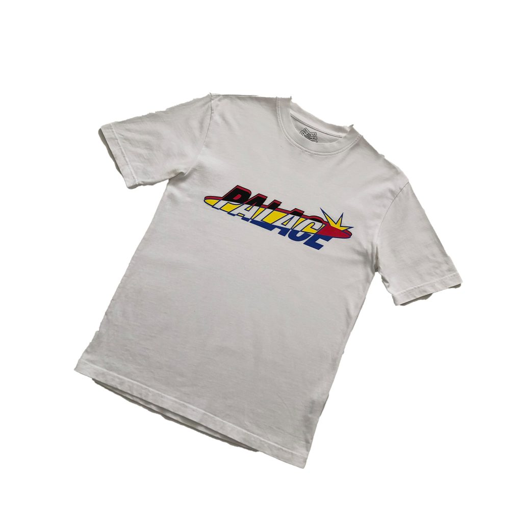 Lique_0001_palace lique tee white small used straight copy