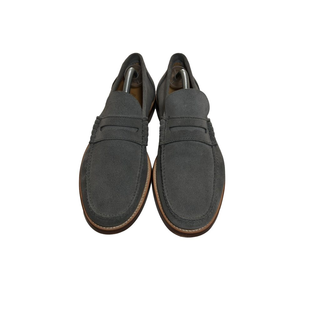 Penny_0002_palace penny loafer suede grey used uk8 front