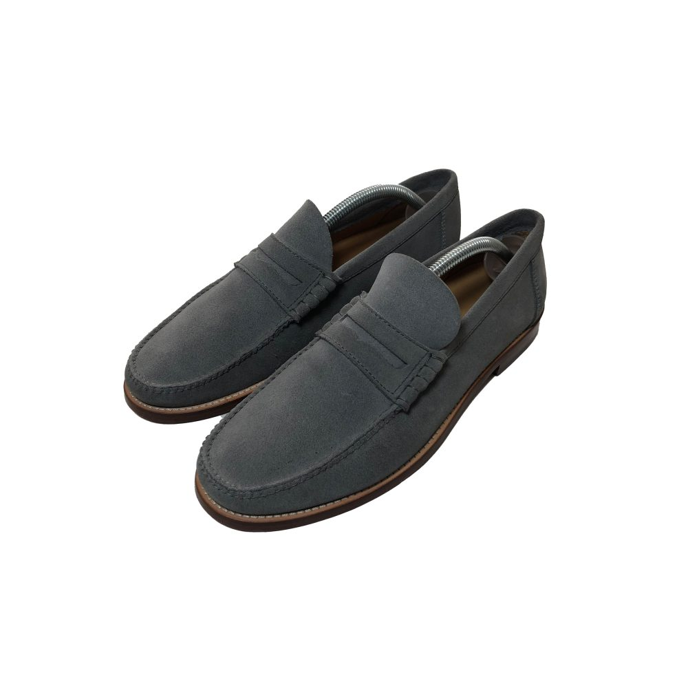 Penny_0004_palace penny loafer suede grey uk8 used diag