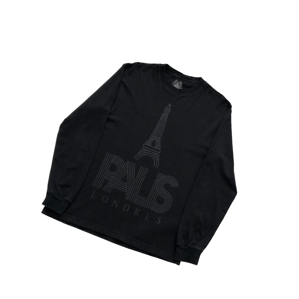 londres_0000_palace p londres ls tee black large used straight copy