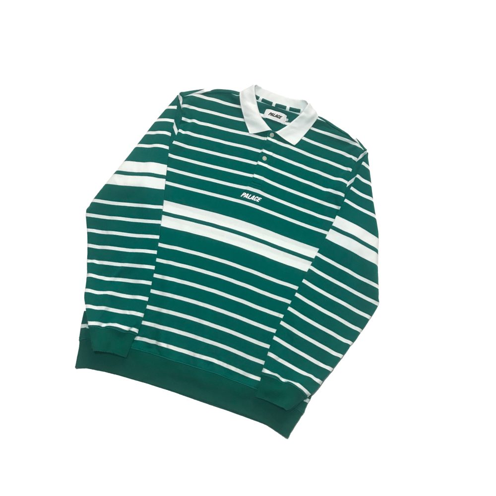 Popper polo_0000_palace popper polo ls green large used straight copy