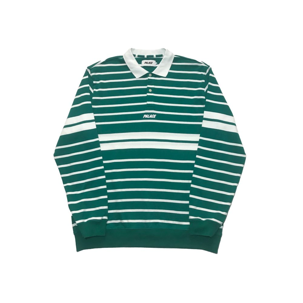 Popper polo_0001_palace popper polo ls green large used straight