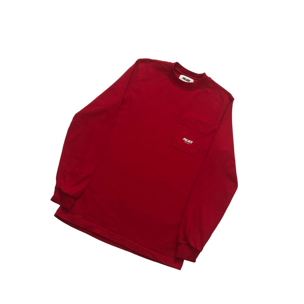 p line_0000_palace p-line pocket ls tee red small used copy
