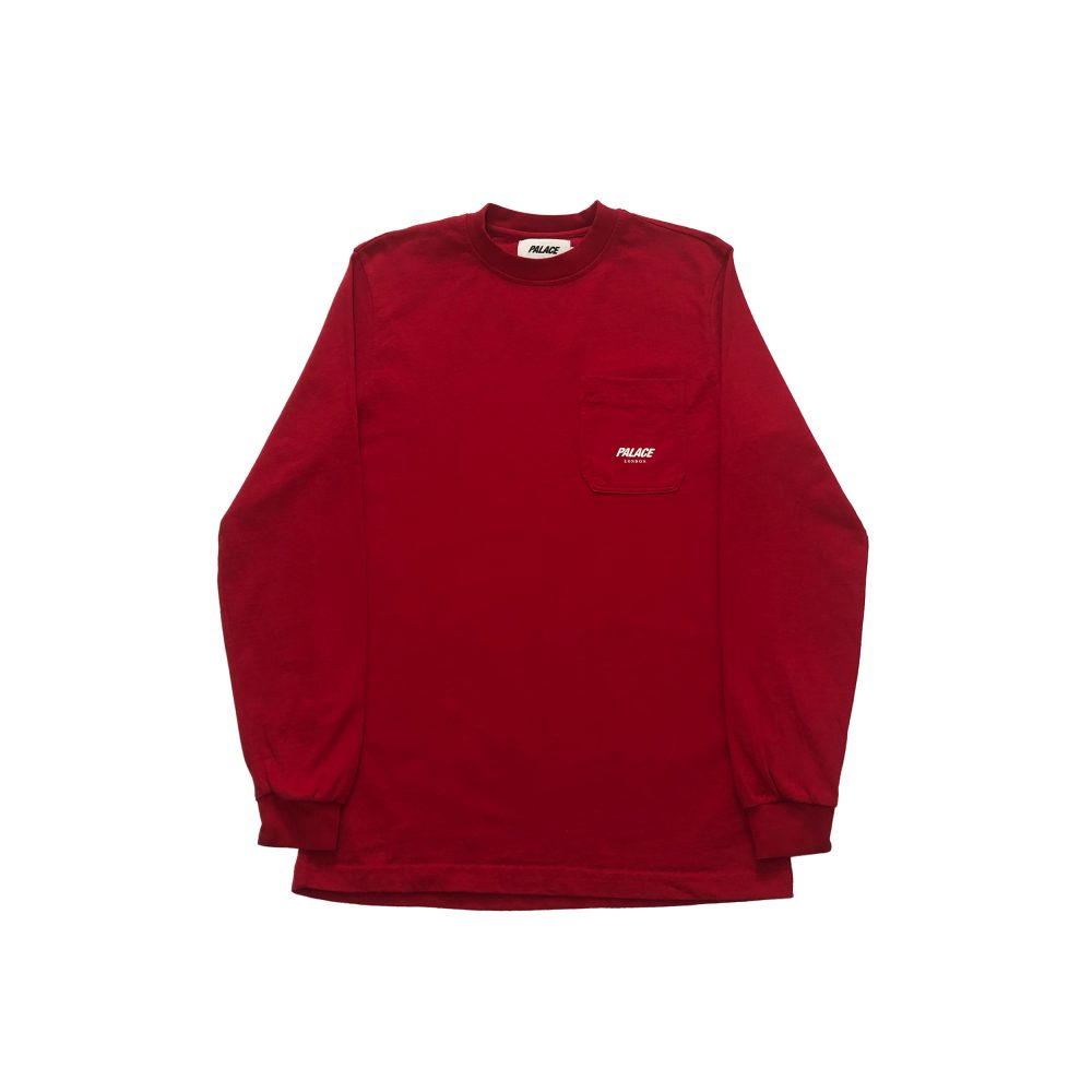 p line_0001_palace p-line pocket ls tee red small used