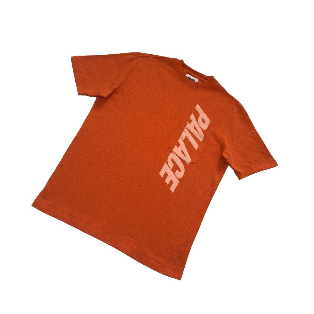 P Slub_0000_palace p slub pocket tee orange large used straight copy