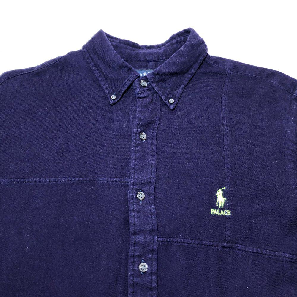 Ralph_0002_palace ralph lauren shirt peiced flannel purple close up
