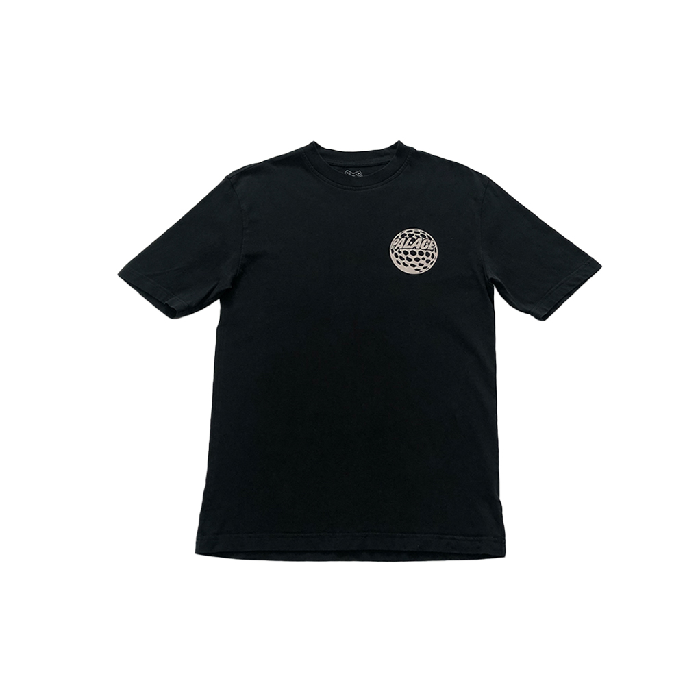 p45_0002_palace p45 tee black small used front straight