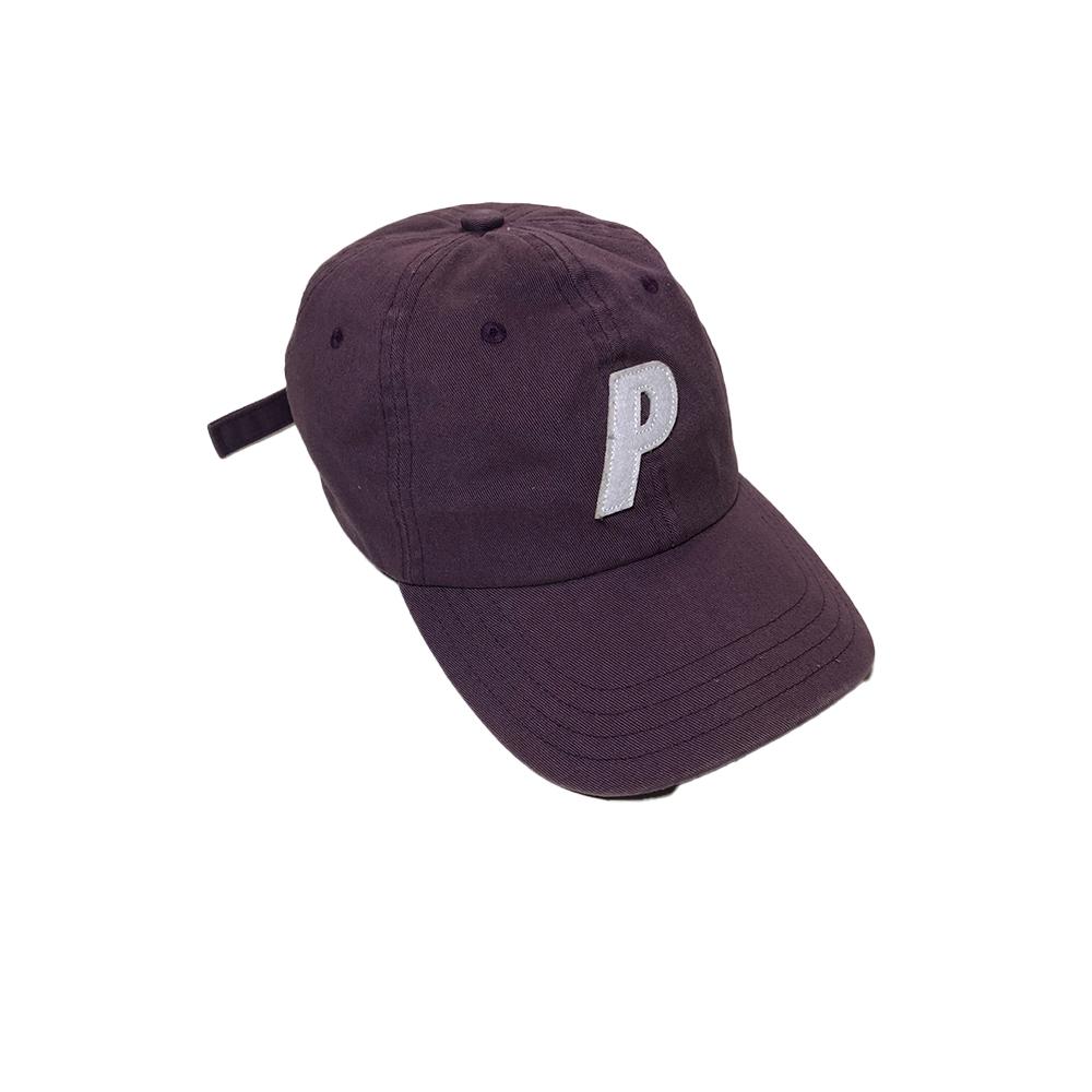 Cap_0000_palace p cap burgundy used diag