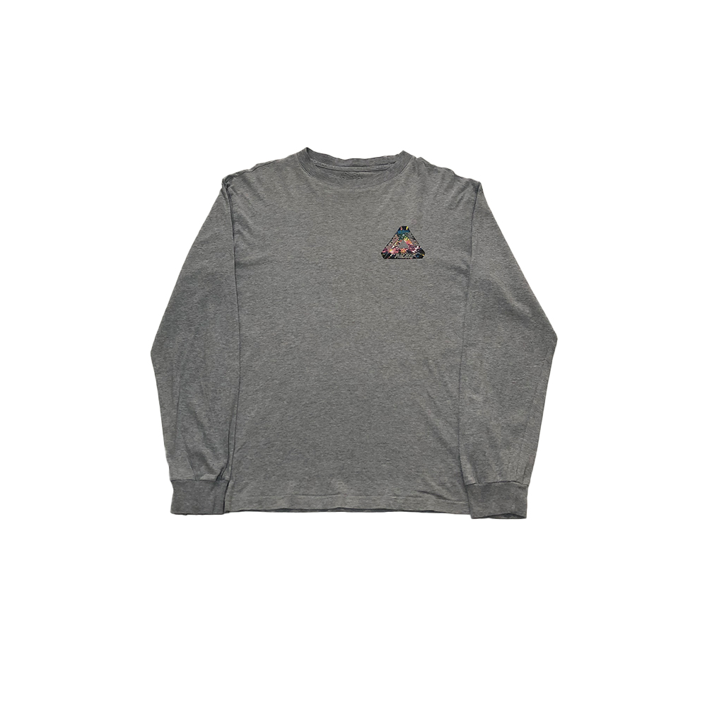 Tri Works_0004_palace tri works ls tee grey large used front straight