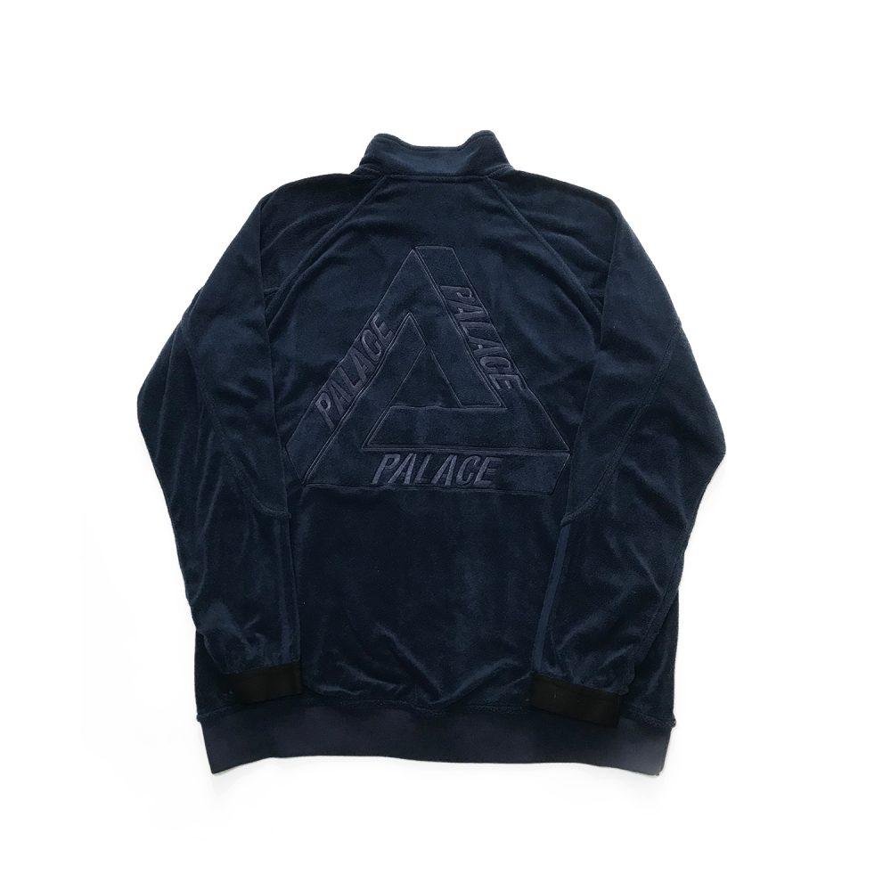 palace x adidas towel jacket indigo xl used back straight