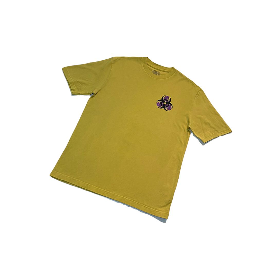 Bio_0000_Palace bio hazard tee yellow large used front straight copy