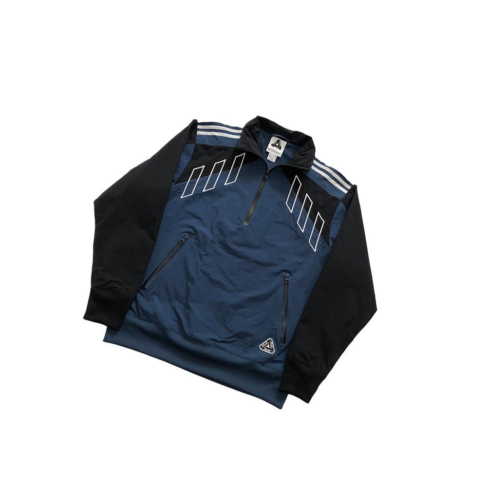 Palace adidas half zip track top blue small used diag
