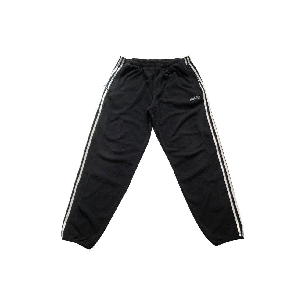Palace x adidas fleeced joggers black small used full