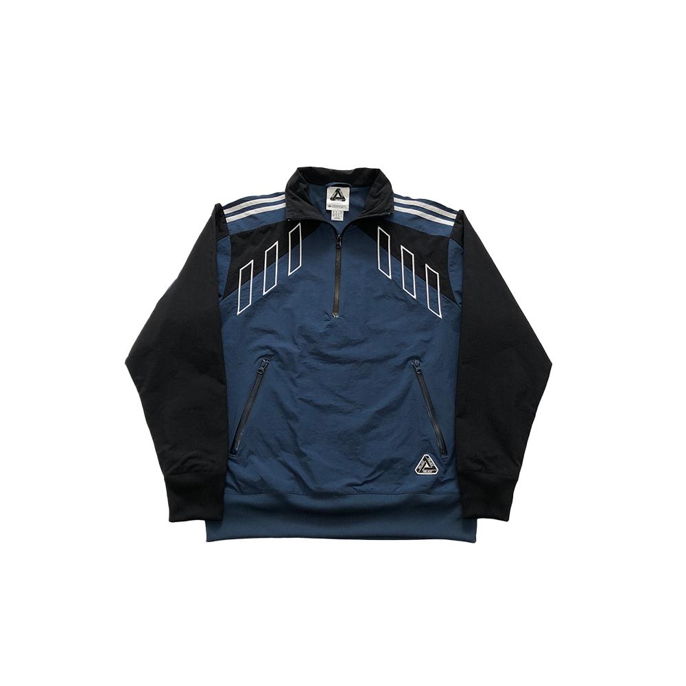 Palace x adidas half zip track top blue small used straight