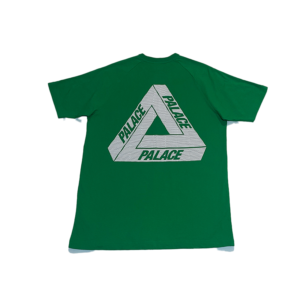 Stan Tri_0003_palace x adidas stan smith tee green large used back straight